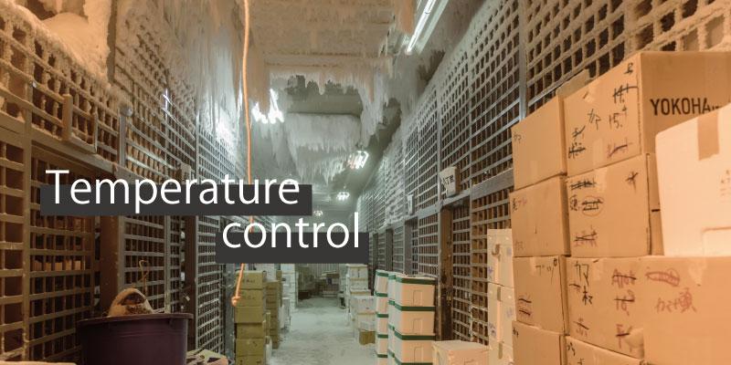 倉庫内の温度監視